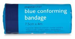 Blue conforming bandage