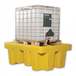 Single IBC Spill Containment Unit with Grate