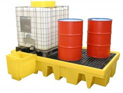 Double IBC Spill Containment Unit with Grate