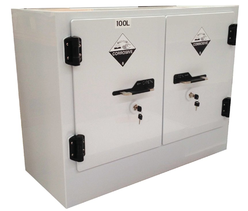 Certain Acids And Bases Release Fumes That Can Attack And Rapidly Corrode  Traditional Metal Chemical Storage Cabinets.