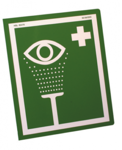 Eyewash Sign Metal Single Sided