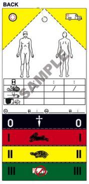 Orginal Medical Emergency Triage Tag METTAG  (MT-137)