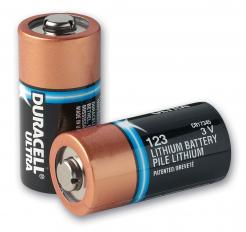 duracell type 123 lithium batteries for zoll aed