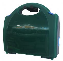 green plastic first aid box