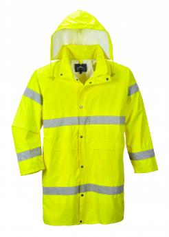 high vis rain coat
