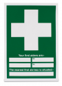 Your First Aiders are & Nearest Box is Sign