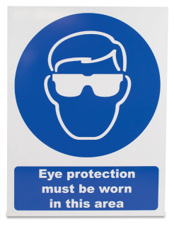 Sign 'Eye protection must be worn'
