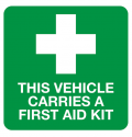 This vehicle carries a First Aid Kit