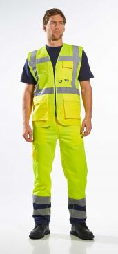 hi vis vest with zip pockets