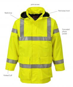Bizflame Rain Hi-Vis Multi Lite Jacket Singapore