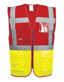 two-tone high visibility vest