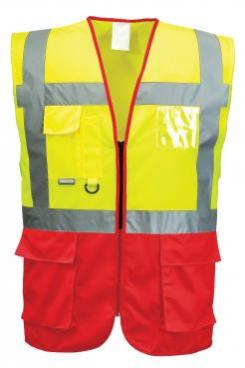 Red Safety vest with pockets singapore