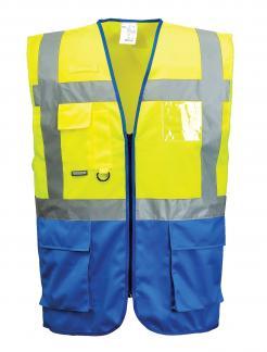 Warsaw Executive Vest Yellow-Royal Blue