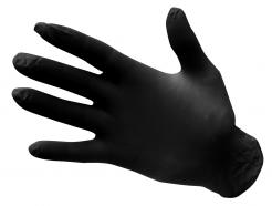 powder free nitrile gloves black