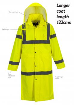 Yellow Hi-Vis Rain Coat singapore