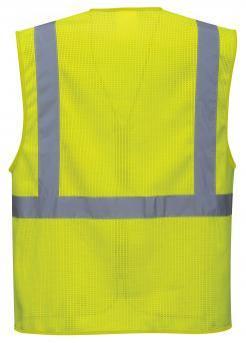 orange mesh safety vest with pockets singapore