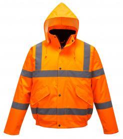 orange hi vis bomber jacket