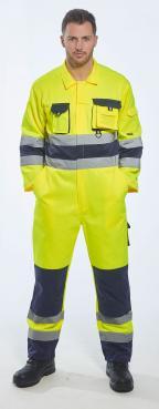 yellow hi vis overalls