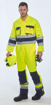 yellow coveralls with reflective tape singapore