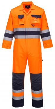 orange hi vis overalls