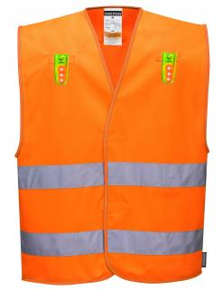 removable led lights safety vest