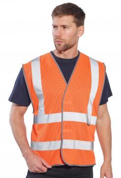 orange mesh safety vest