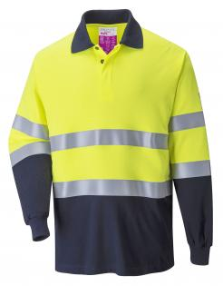 Flame Resistant Anti-Static Two Tone Polo Shirt