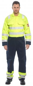 Flame Retardant navy yellow coveralls