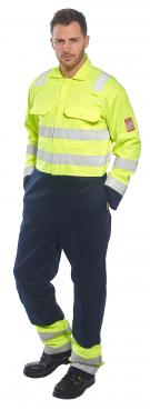 Flame Retardant navy yellow coveralls singapore