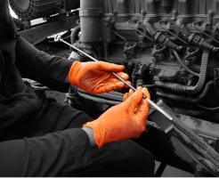 GL902 Orange Nitrile™ Nitrile powder free disposable glove