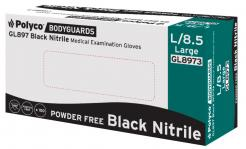 Black nitrile powder free disposable glove Singapore