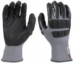 MadGrip Ergo Impact Foam Nitrile Palm Glove Grey/Black