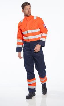 orange fire retardant overalls