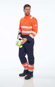 orange flame retardant overalls