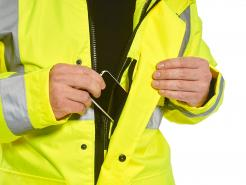 High visibility 4-in-1 reflective safety jacket singapore