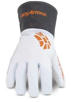 HexArmor 4062 Chrome SLT Extended Safety Cuff and Goatskin Leather Palm High Dexterity