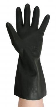 Black Polychloroprene rubber industrial gloves