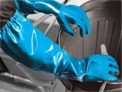 Long Nite™ chemical resistant nitrile coated gauntlet singapore