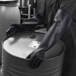 Polyco Chemprotec Black Rubber Gloves