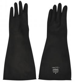 Chemprotec Black Chemical Resistant Rubber Reusable Gloves