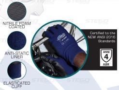 nitrile foam coated gloves