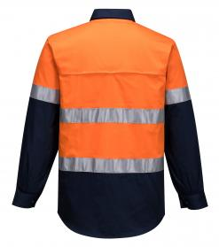 Hi-Vis Two Tone Lightweight Long Sleeve Shirt with Tape singapore
