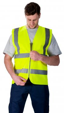 safety vest with zipper