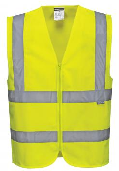 Hi-Vis Zipped Band & Brace Vest