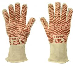 Hot Glove Double layered cotton glove with nitrile grip coating