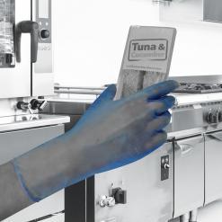 GL843 Blue Vinyl PF™ Vinyl powder free disposable glove