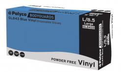 GL843 Blue Vinyl PF™ Vinyl powder free disposable glove singapore