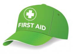 Green First Aid Cap