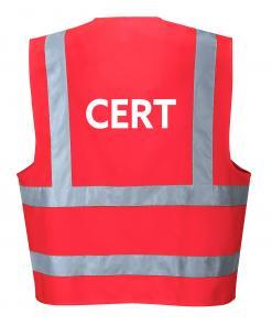Red CERT vest