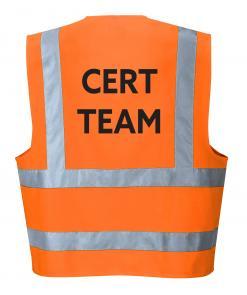 Orange CERT team vest Singapore